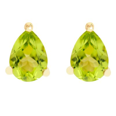Heidi Kjeldsen Chic Peridot Claw Set Earstuds in 9ct Yellow Gold ER1760