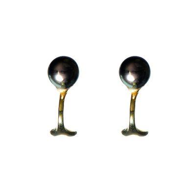 Heidi Kjeldsen Clip-on Black Akoya Cultured Pearl Earrings ER0758