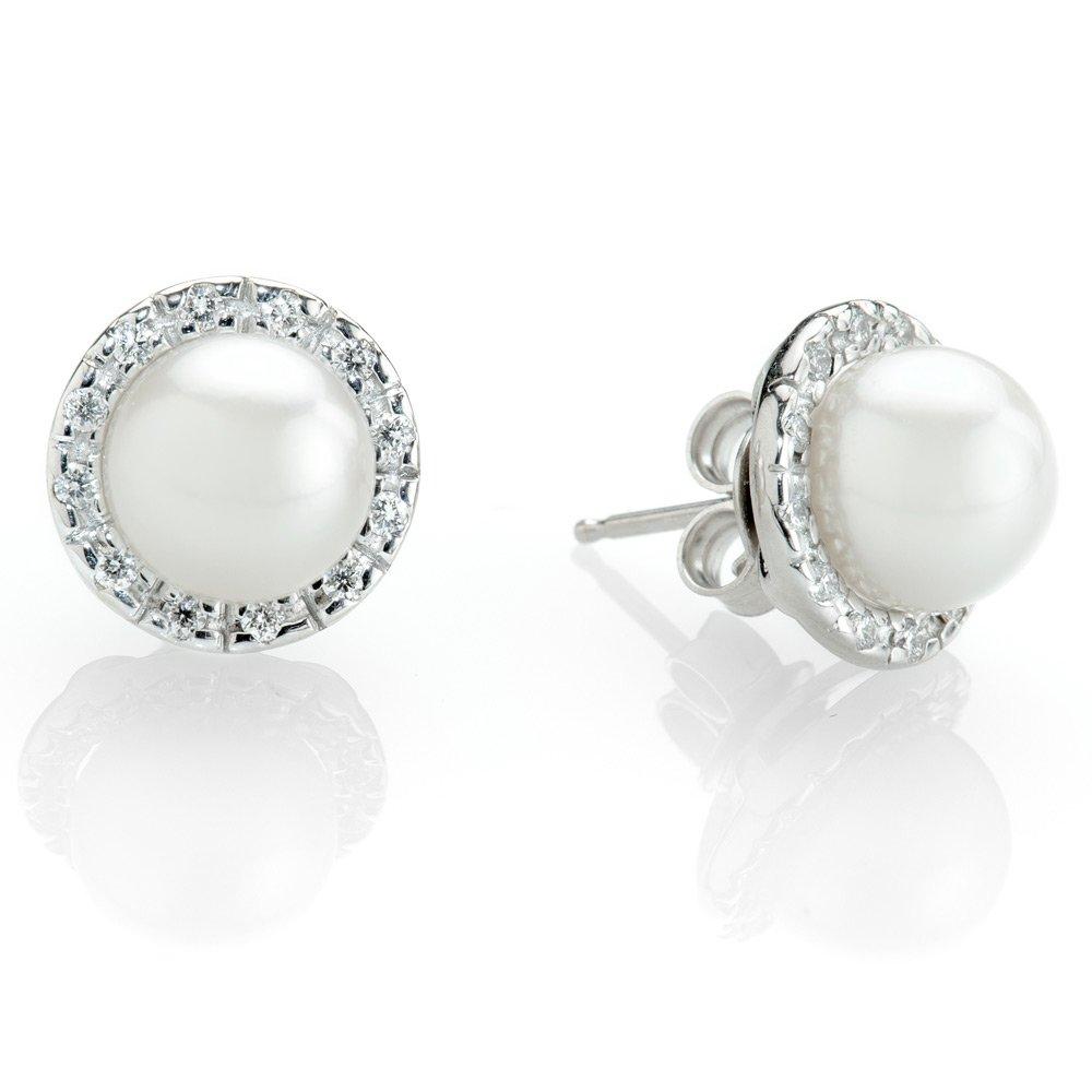 Heidi Kjeldsen Cultured Pearl & Diamond Earrings ER1798