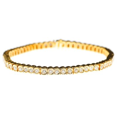 Heidi Kjeldsen Diamond & 18ct Yellow Gold Bracelet BA015X
