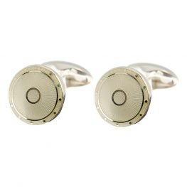 Heidi Kjeldsen Elegant Cream domed enamelled cufflinks CL0190