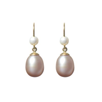 Heidi Kjeldsen Elegant Pink, White Cultured Pearl & Gold Earrings ER1346