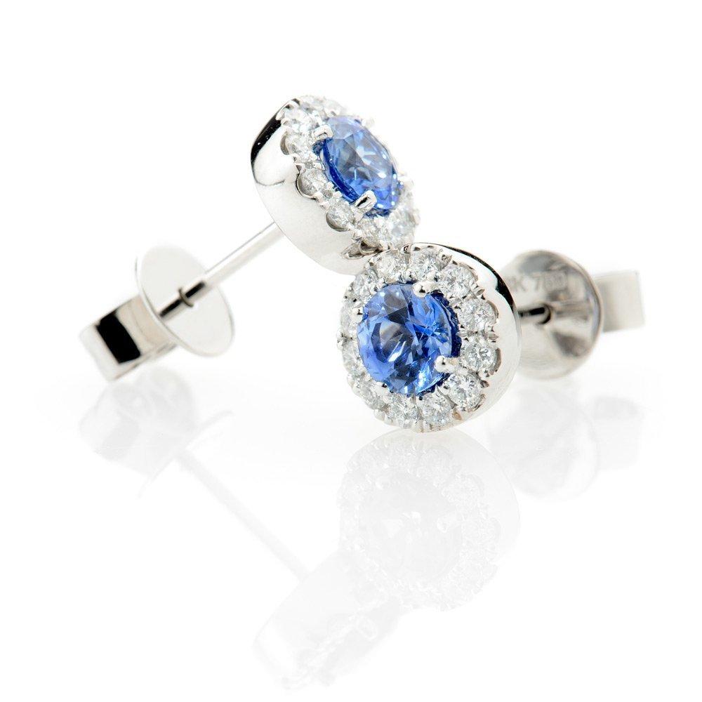 Heidi Kjeldsen Exquisite Ceylon Sapphire & Diamond Earrings ER1848-2