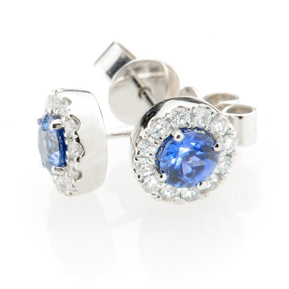 Heidi Kjeldsen Exquisite Ceylon Sapphire & Diamond Earrings ER1848-3