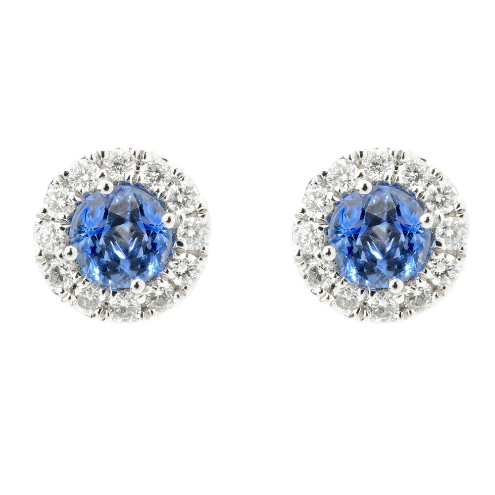 Heidi Kjeldsen Exquisite Ceylon Sapphire & Diamond Earrings ER1848