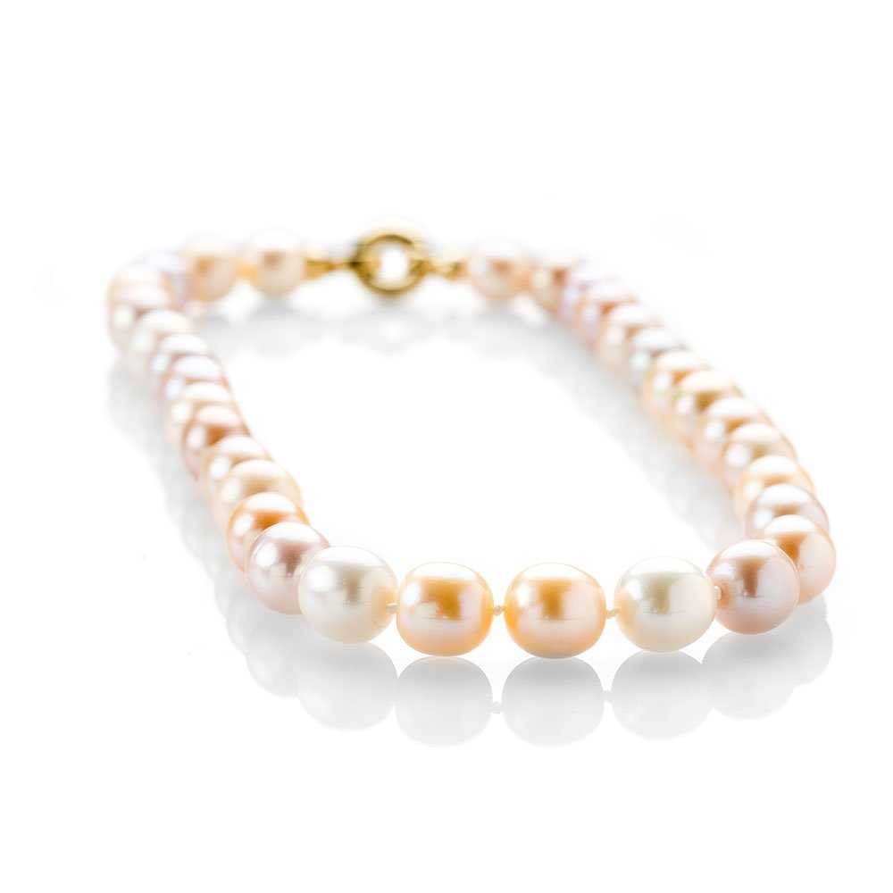 Exquisite Pink Pearl Necklace