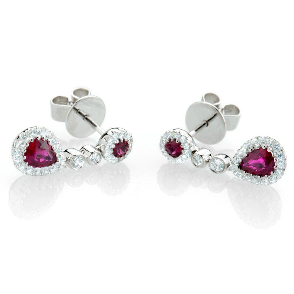 Heidi Kjeldsen Exquisite Ruby & Diamond Drop Earrings ER1458