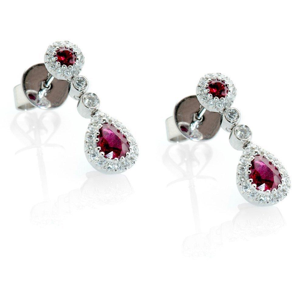 Heidi Kjeldsen Exquisite Ruby & Diamond Drop Earrings ER1458-2