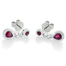 Heidi Kjeldsen Exquisite Ruby & Diamond Drop Earrings ER1458