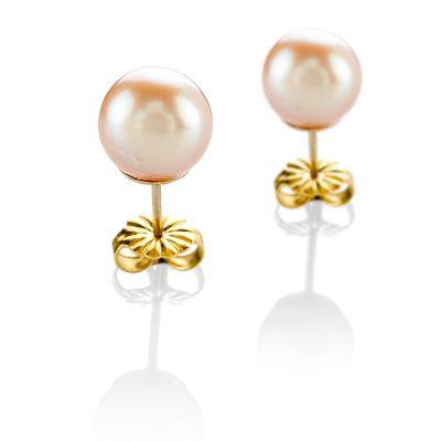 Heidi Kjeldsen Feminine Pink Cultured Pearl & 18ct Gold EarringsER1694-2