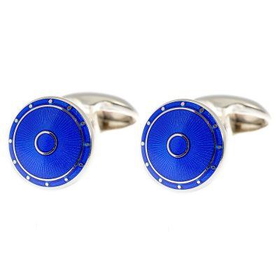 Heidi Kjeldsen Glorious Electric Blue Handmade Sterling Silver Cufflinks CL0188