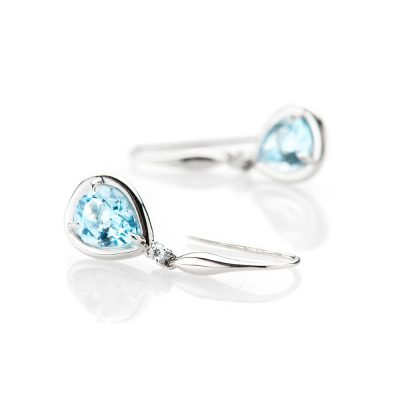 Heidi Kjeldsen Gorgeous Blue Topaz and Diamond Drop Earrings ALT4 ER1895