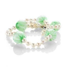 Heidi Kjeldsen Gorgeous Green Murano Glass and Pearl Necklace ALT2 NL1156