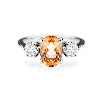 Heidi Kjeldsen Honey Coloured Imperial Topaz and Diamond Ring R867