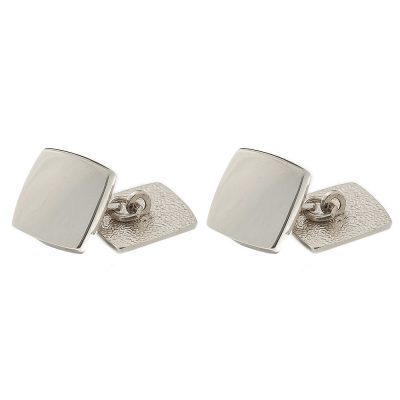 Heidi Kjeldsen Modern and Chic Handmade Sterling Silver Heavy Weight Cushion Shaped Cufflinks MA915