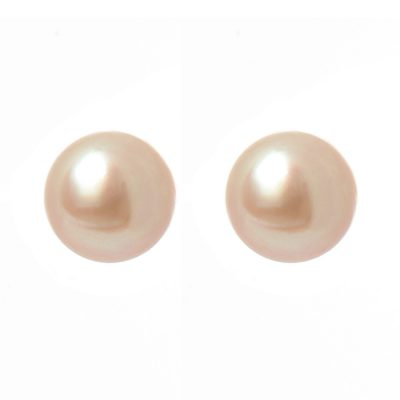 Heidi Kjeldsen Pink Mauve Cultured Pearls & Gold Earrings ER1315