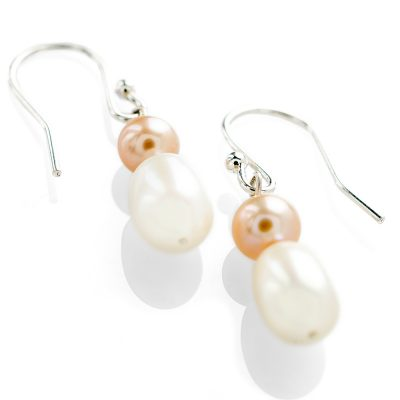 Heidi Kjeldsen Pink & White Cultured Pearl Drop Earrings ER17799