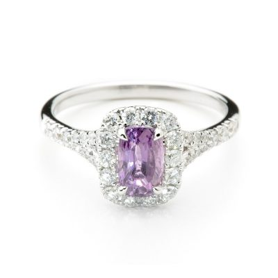 Heidi Kjeldsen Rare Natural Purple Sapphire & Diamond Ring R1079