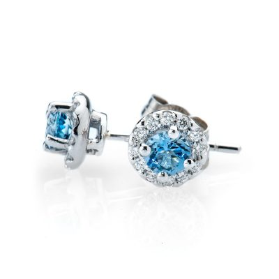 Heidi Kjeldsen Sparkling Aquamarine and Diamond Cluster Earrings ALT2 ER1767
