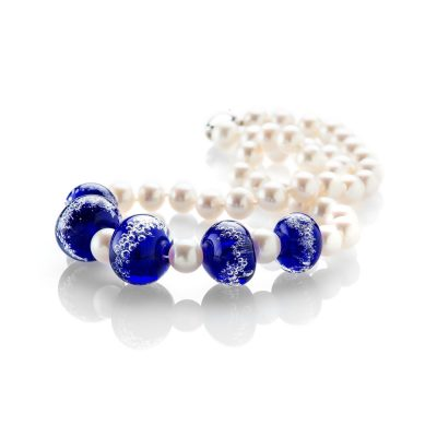 Heidi Kjeldsen Sparkling Blue Murano Glass and Pearl Necklace ALT1 NL1015