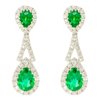Heidi Kjeldsen Splendid Emerald & Diamond Drop Earrings ER1459