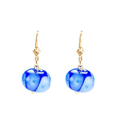 Heidi Kjeldsen Striking Blue Murano Glass Earrings ER1801-2