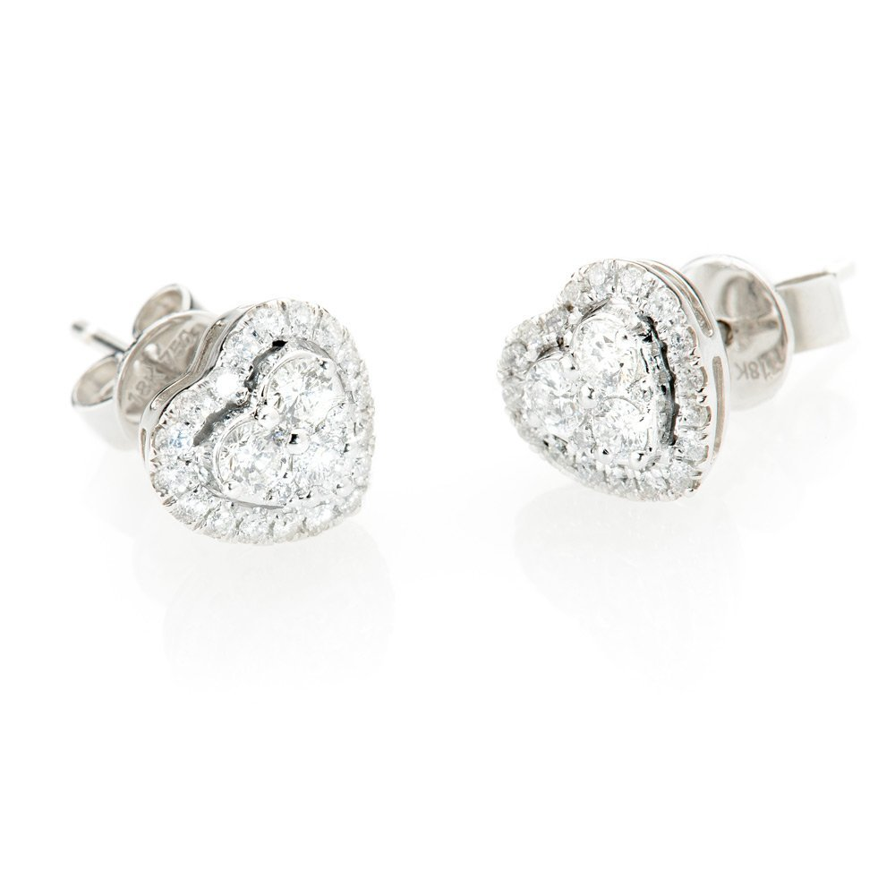 Heidi Kjeldsen Stylish Diamond Heart Earrings ER1847-2