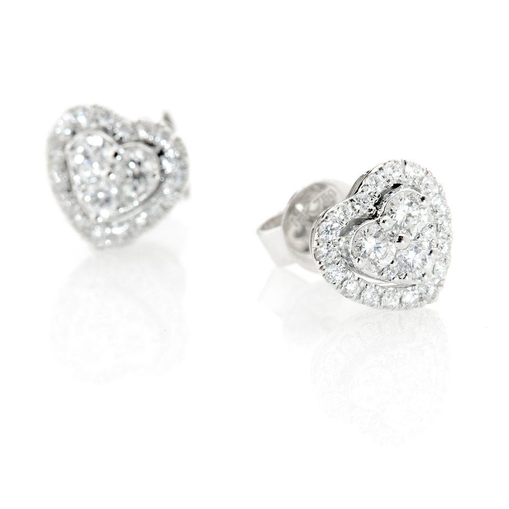 Heidi Kjeldsen Stylish Diamond Heart Earrings ER1847-3