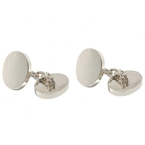 Heidi Kjeldsen Stylish Heavy Weight Handmade Silver Oval Domed Cufflinks CL0171