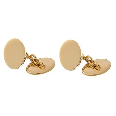 Heidi Kjeldsen Stylish and Modern Handmade 9ct Yellow Gold Heavy Chained Cufflinks CL0102