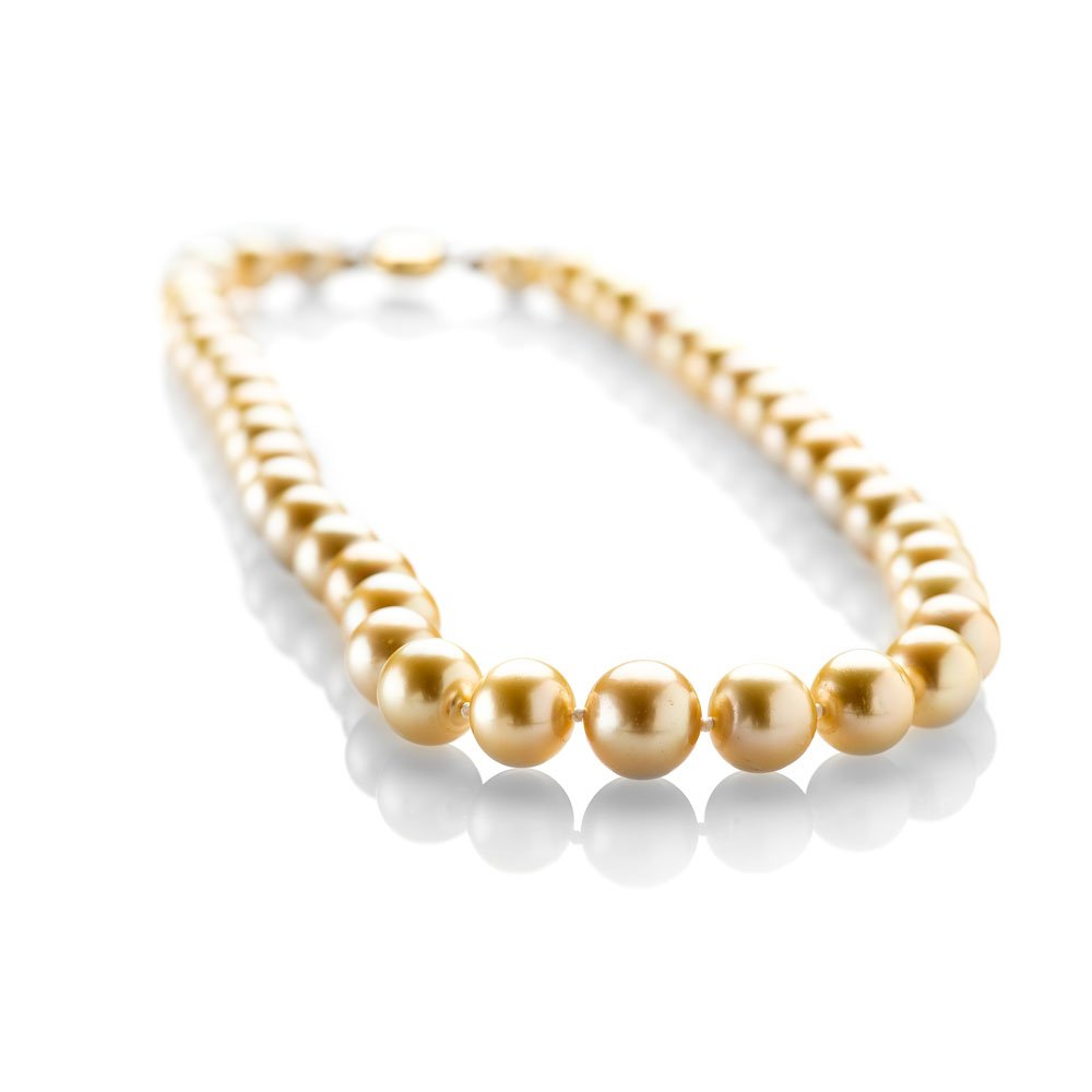 Top of the Range Golden South Sea Pearl Necklace