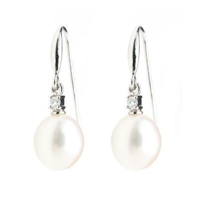 Heidi Kjeldsen White Drop Pearl & Diamond Earrings ER1729
