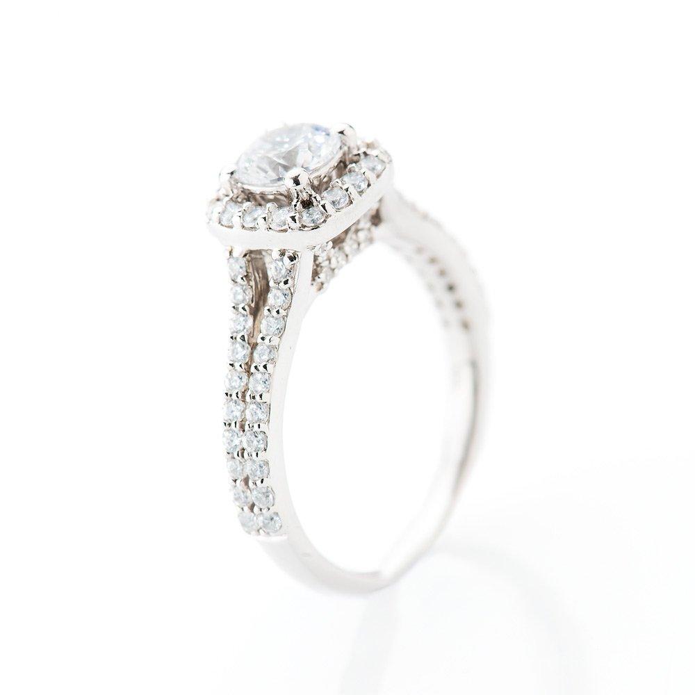 Heidi Kjedsen Elegant Diamond Square Shaped Cluster Ring R1109