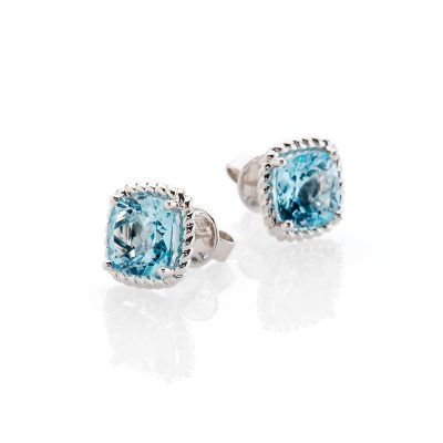 Heidi Kjeldsen Alluring Blue Topaz and White Gold Earrings ER1948