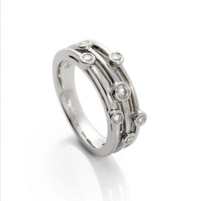Heidi Kjeldsen Charming Diamond and Platinum Bubble Ring R1085