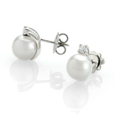 Heidi Kjeldsen Classical Diamond and Pearl Earrings ALT1 ER1996