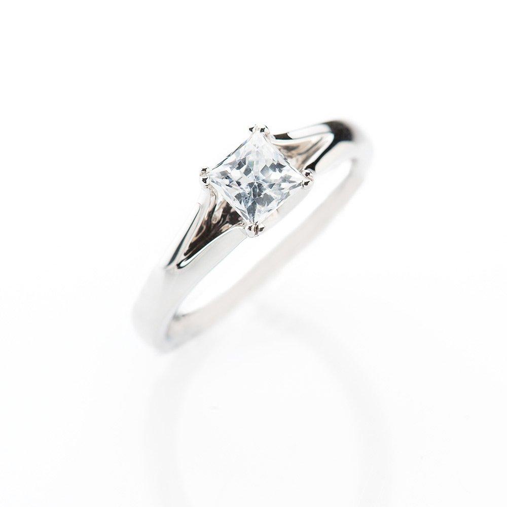 Heidi Kjeldsen Contemporary Princess Cut Diamond Solitaire Ring ALT1 R1099