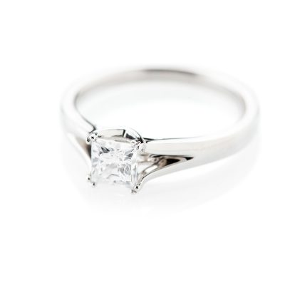 Heidi Kjeldsen Contemporary Princess Cut Diamond Solitaire Ring R1099