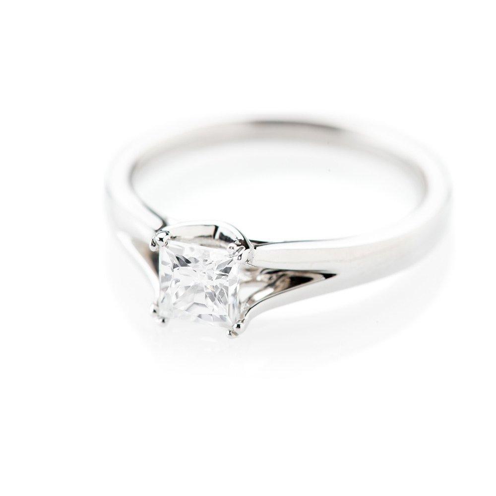 Heidi Kjeldsen Contemporary Princess Cut Diamond Solitaire Ring R1099