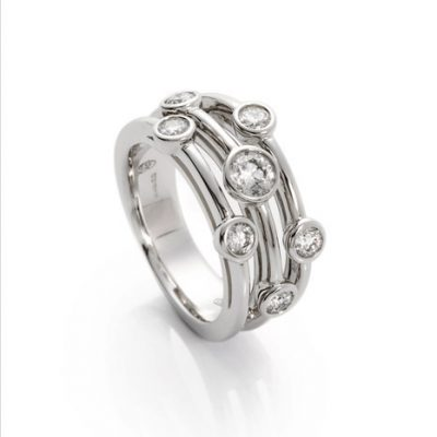 Heidi Kjeldsen Diamond Bubble Ring R1086