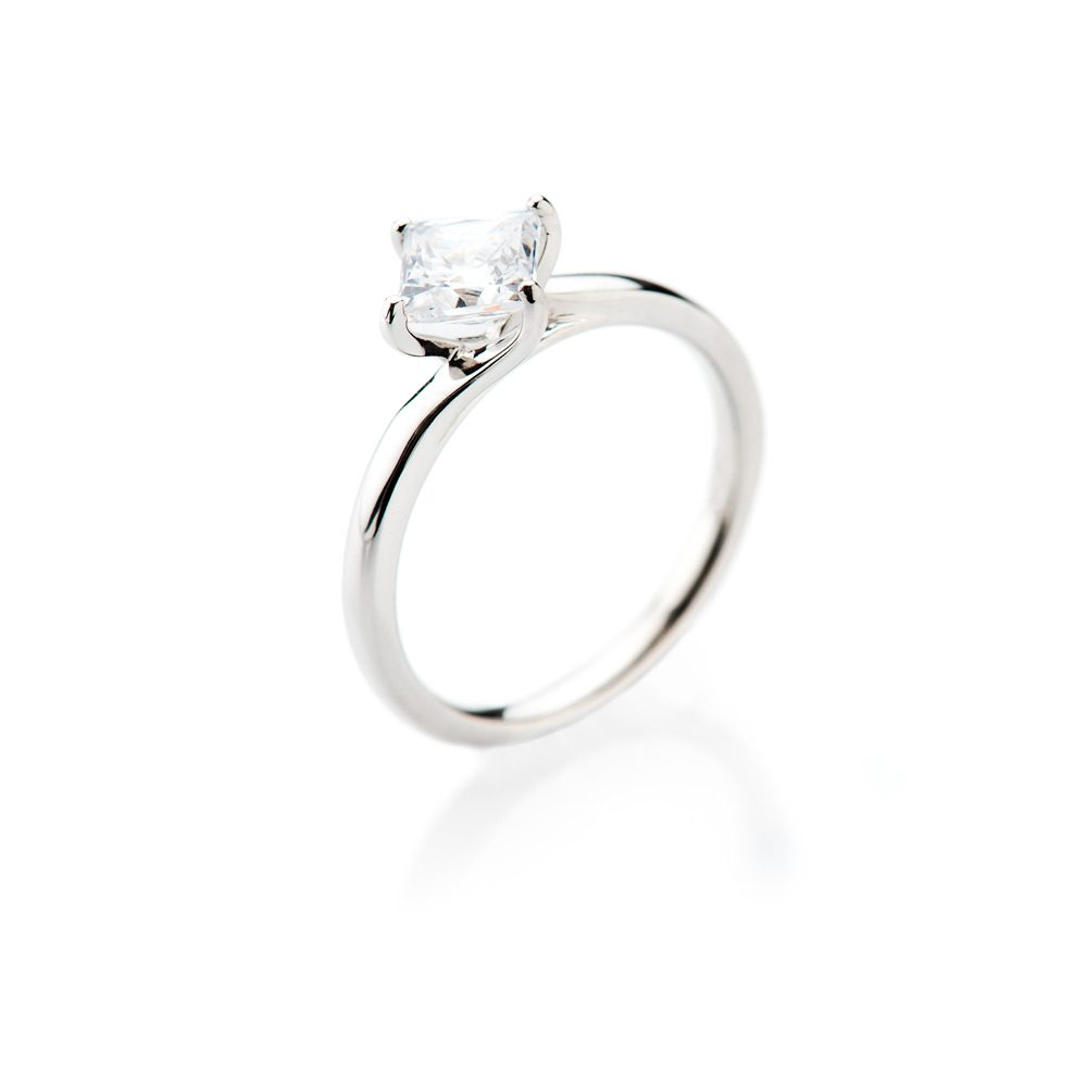Heidi Kjeldsen Glamorous Princess Cut Diamond Solitaire Ring ALT1 R1100