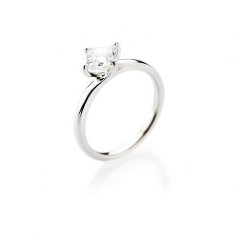 Heidi Kjeldsen Glamorous Princess Cut Diamond Solitaire Ring ALT1 R1100