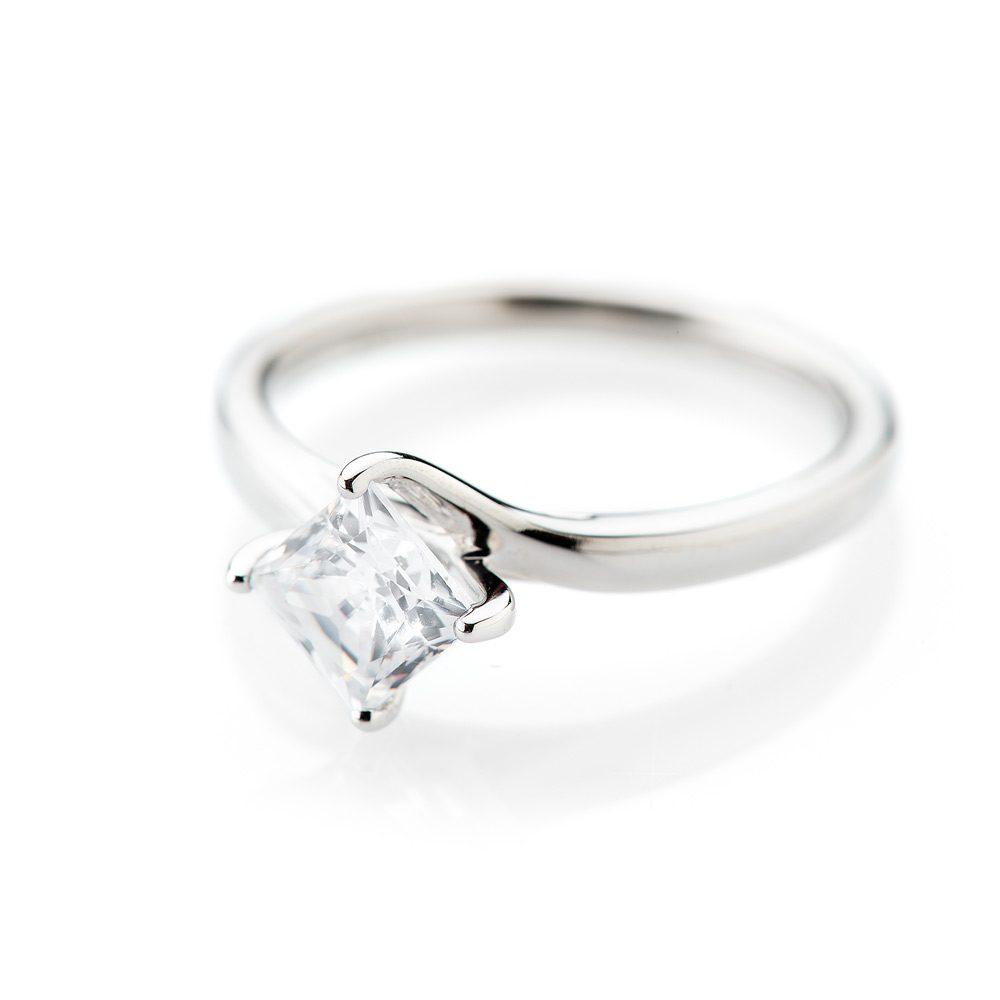 Heidi Kjeldsen Glamorous Princess Cut Diamond Solitaire Ring R1100