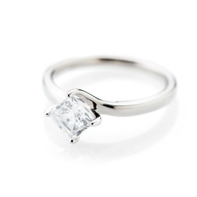 Heidi Kjeldsen Glamorous Princess Cut Diamond Solitaire Ring R1100