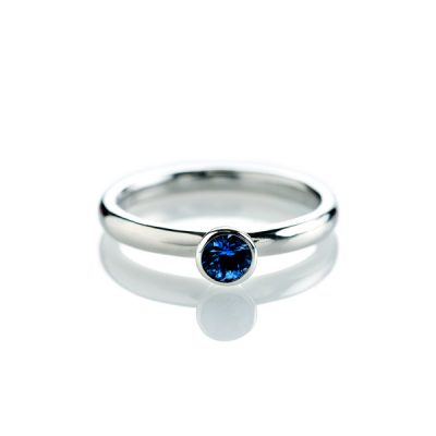 Heidi Kjeldsen Gorgeous Royal Blue Ceylon Sapphire Stacking Ring R1128