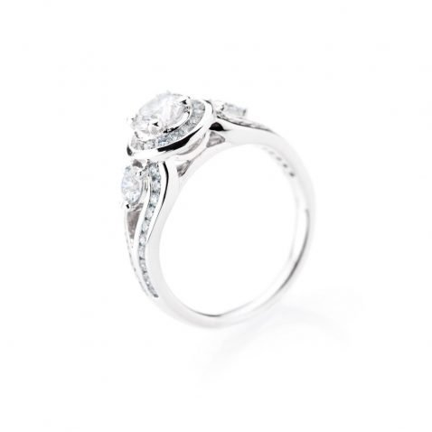 Heidi Kjeldsen Luxury Diamond 18ct White Gold Ring ALT1 R1110