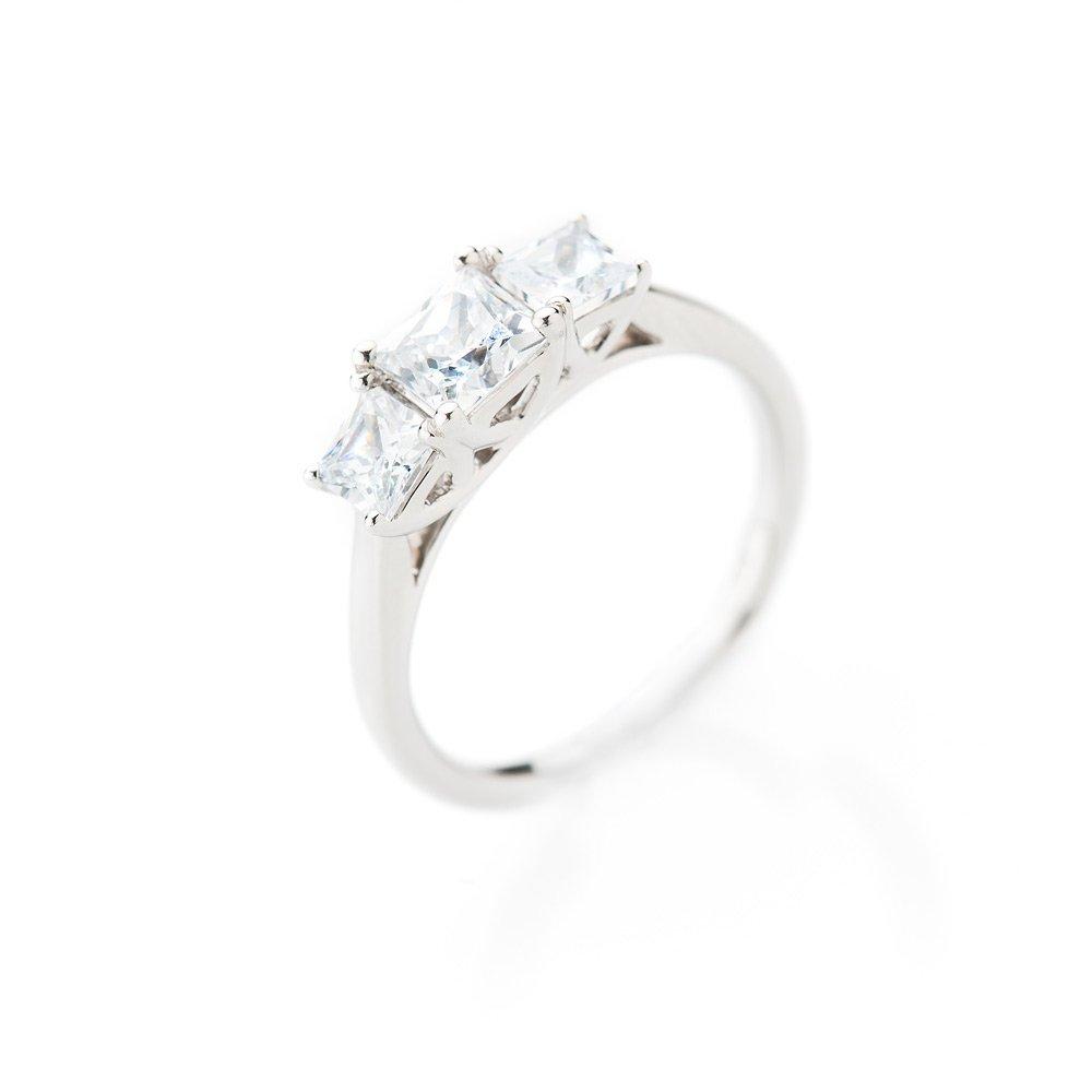 Heidi Kjeldsen Magnificent Princess Cut Diamond Three Stone Ring ALT1 R1104