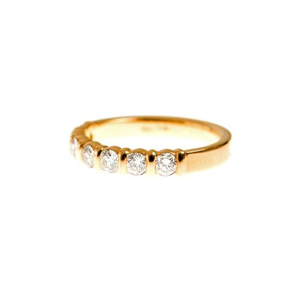 Heidi Kjeldsen Rich Yellow Gold and Diamond Eternity Ring R1019