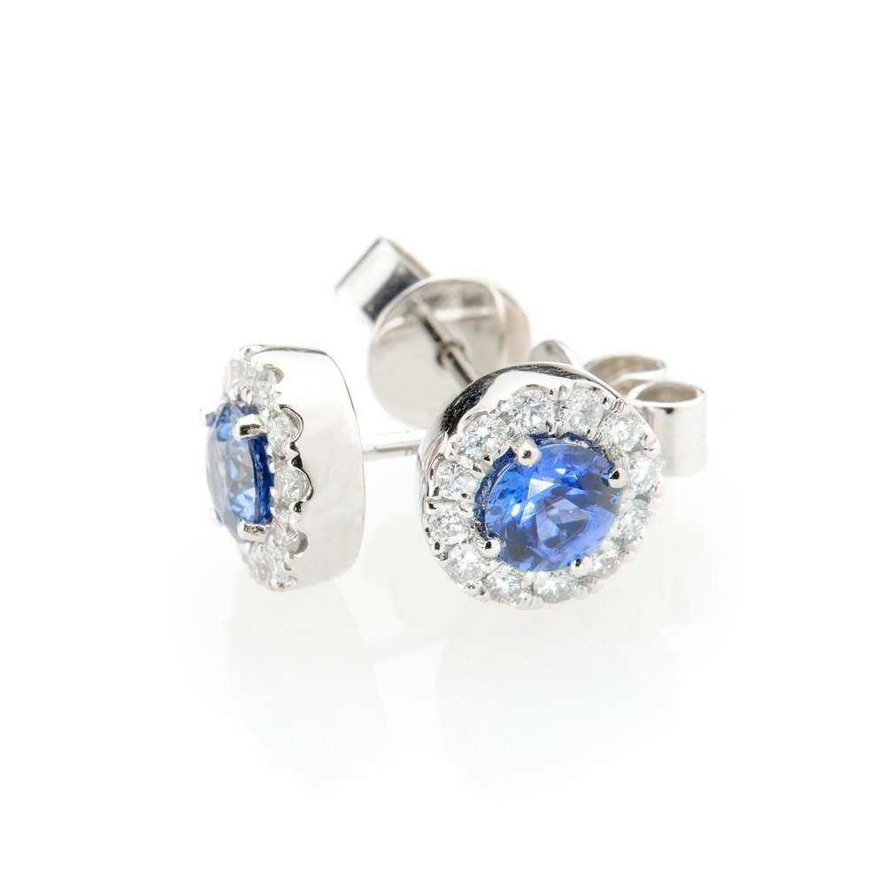 Heidi Kjeldsen Exquisite Ceylon Sapphire & Diamond Earrings ER1848-4