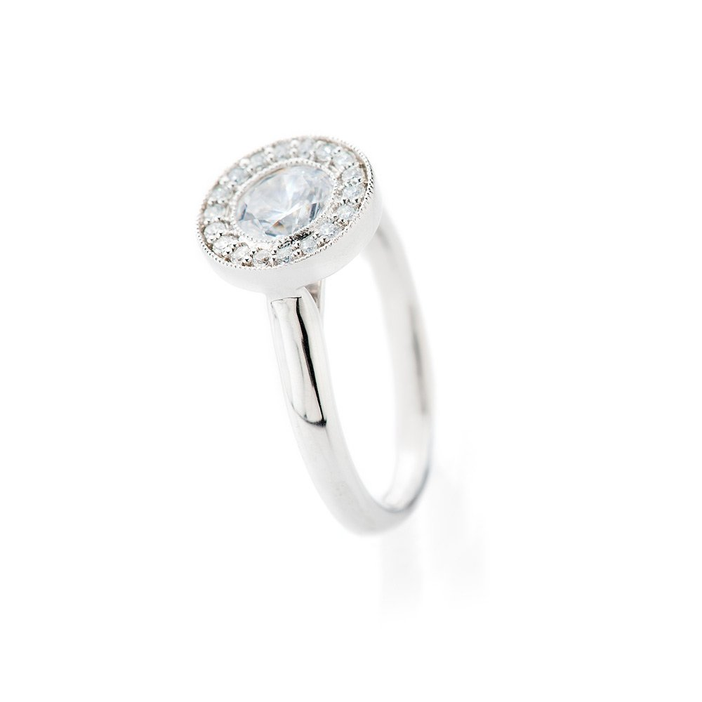 Heidi Kjeldsen Stunning Diamond Cluster Ring R1103 Vertical View